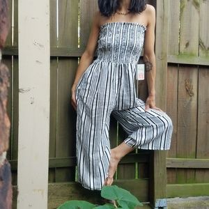 Pants - SOLD🌻Ruched Tube Top Gaucho Romper🌻